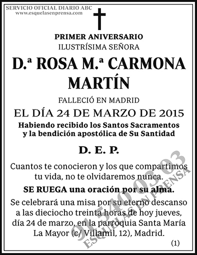 Rosa M.ª Carmona Martín